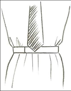 comprimento da gravata